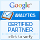 Google ANALYTICS CERTIFIED PARTNER - click to verify